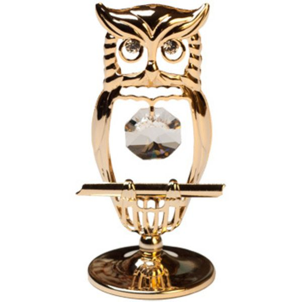 CRYSTOCRAFT Figurine Mini Hooded Owl Image