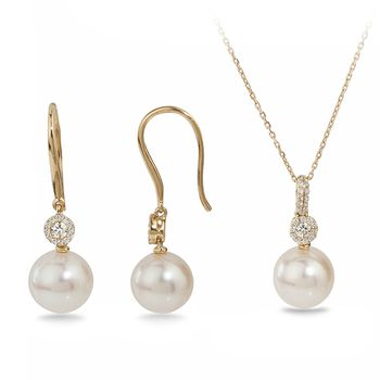 UMI Pearls ALIKA Diamond Pearl Set