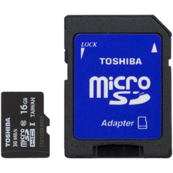 Toshiba microSDHC Class 4 Memory Card, 16GB Image