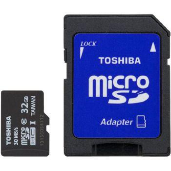 Toshiba microSDHC Class 4 Memory Card, 32GB