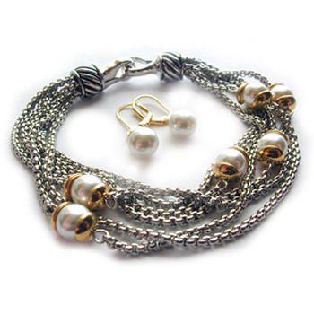 Diane Katzman Pearl Bracelet & Earring Set