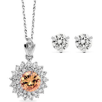 Pica LéLa Topas Crown Necklace & Earrings Set