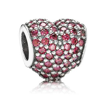 PANDORA Red PavÉ Heart Charm