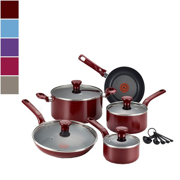 T-fal EXCITE Nonstick Cookware Set w/ Thermo-Spot™ 14pcs Image