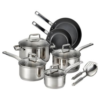 T-fal Precision Ceramic Stainless Steel Set 12pcs