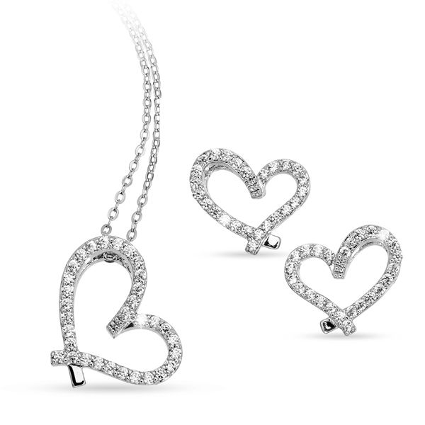 Pica LéLa FOREVER Heart Necklace Earring Set Image