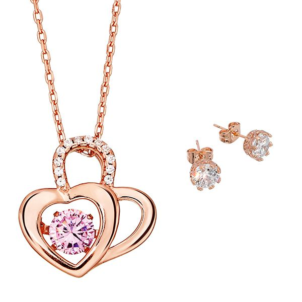Pica LéLa Heart to Heart Necklace & Earrings Set Image
