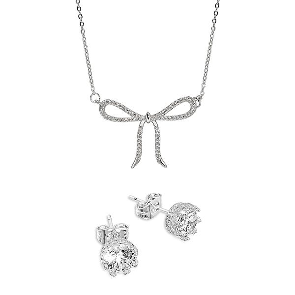 Pica LéLa GLORY Charming Bow Necklace & Earrings Set Image