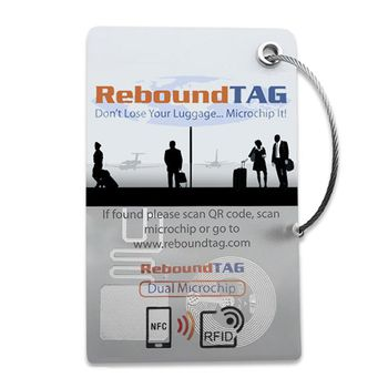 ReboundTAG Microchip Luggage Tag - Single Pack