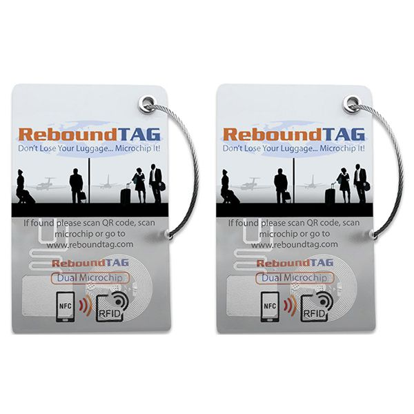ReboundTAG Microchip Luggage Tag - Double Pack Image