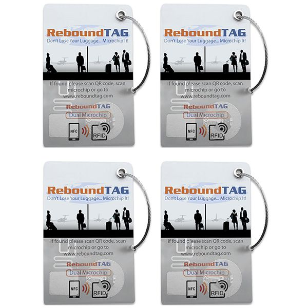 ReboundTAG Microchip Luggage Tag - Family Pack Image