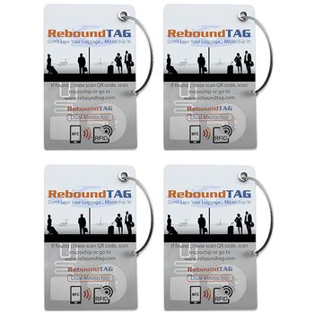 ReboundTAG Microchip Luggage Tag - Family Pack