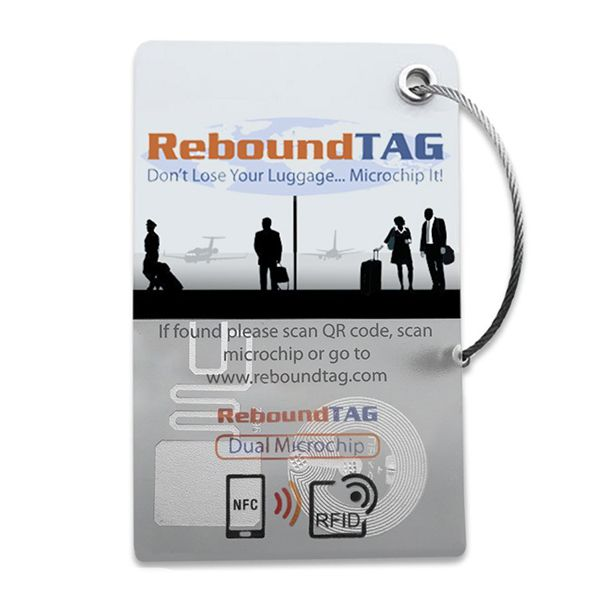 ReboundTAG Microchip Luggage Tag - Corporate Pack Image