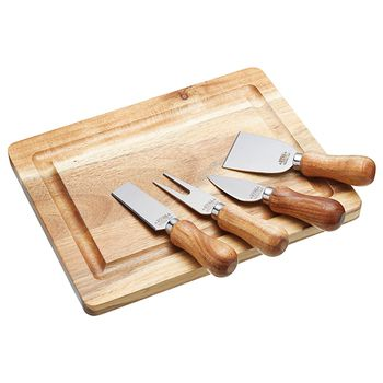 KitchenCraft ARTESÀ Cheese Board & Knife Set 5pcs