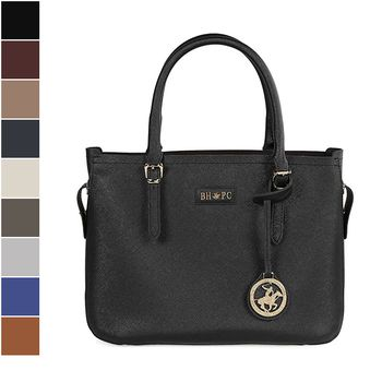 Beverly Hills Polo Club Saffiano Leather Tote Bag