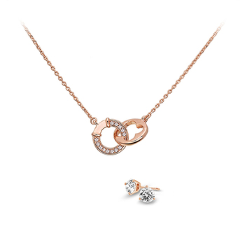 Pica LéLa LUCKY & WISH Crystal Pendant Necklace & Earrings Set