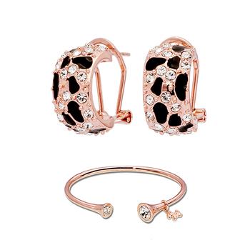 Pica LéLa MYSTIQUE Crystal Enamel Earrings & Bangle Set
