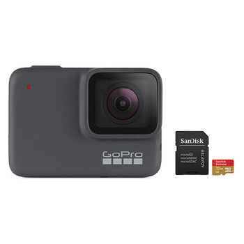 GoPro HERO 7 Camera (Silver) with SanDisk microSD Card 32GB