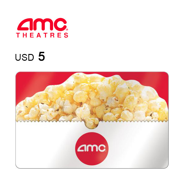AMC Theatres e-Gift Card $5 Image