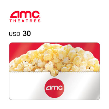 AMC Theatres e-Gift Card $30