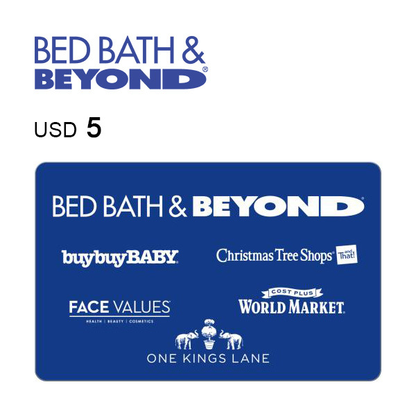 Bed Bath & Beyond e-Gift Card $5 Image