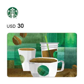 Starbucks e-Gift Card $30