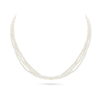 UMI Pearls AEYRN 3-Line Freshwater Pearl Necklace