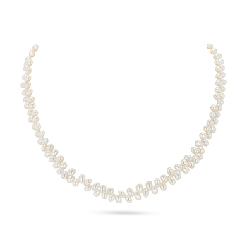 UMI Pearls VICTORIA Top Drill Freshwater Rice Pearl Necklace